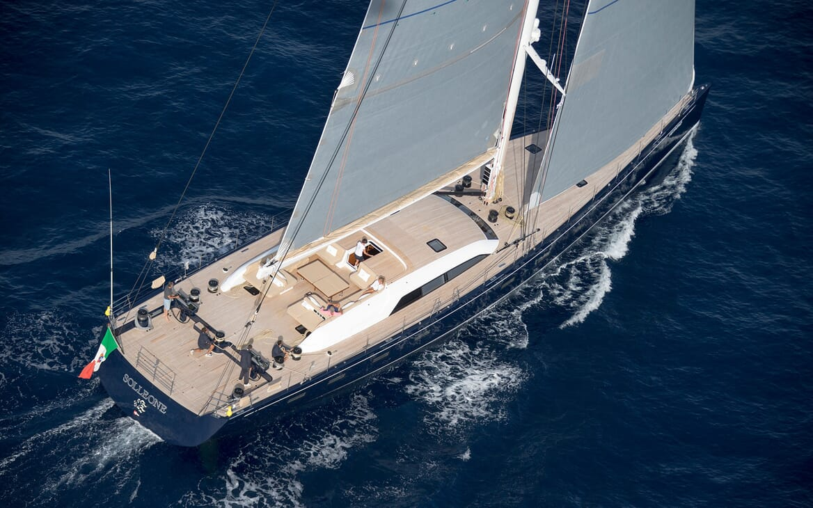 Sailing Yacht SOLLEONE Aerial Profile