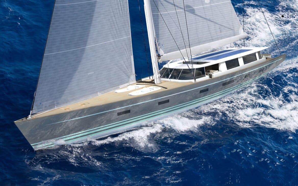 Sailing Yacht Beiderbeck under sail