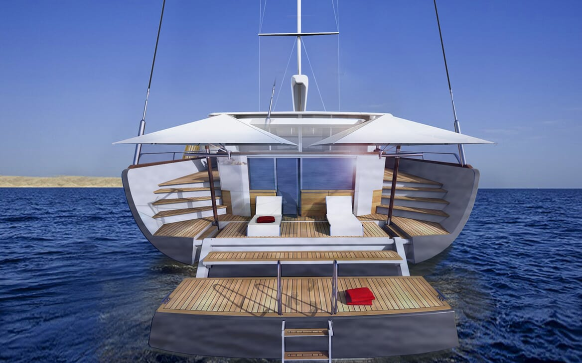 Sailing Yacht Beiderbeck aft shot
