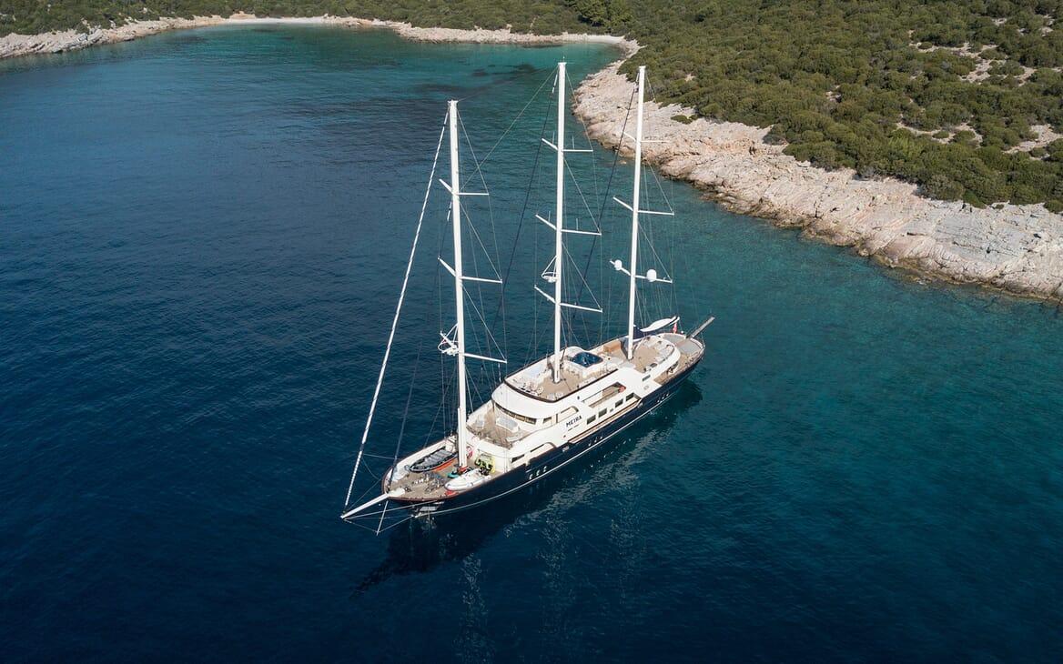 Sailing Yacht Meira under anchor