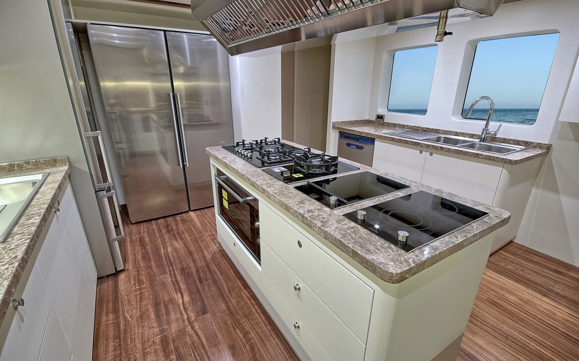 Sailing Yacht Meira galley