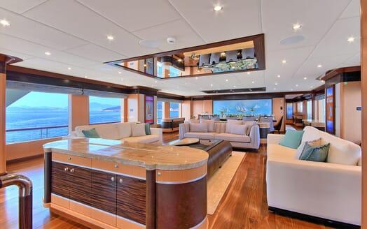 Sailing Yacht Meira main saloon