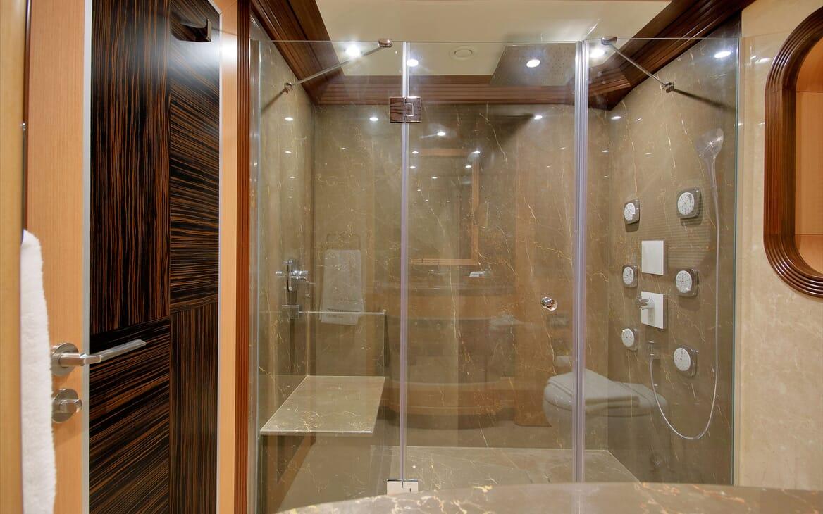 Sailing Yacht Meira master bathroom
