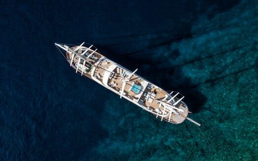Sailing Yacht Meira aerial