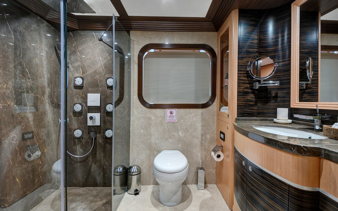 Sailing Yacht Meira washroom