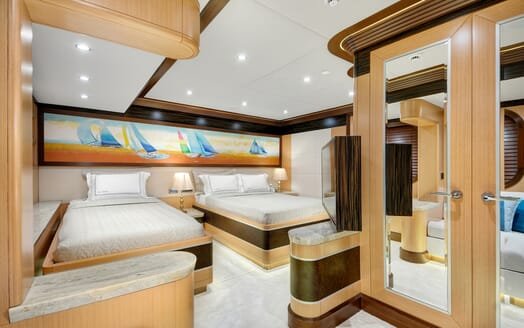 Sailing Yacht Meira guest stateroom