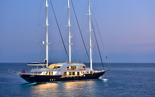 Sailing Yacht Meira underway