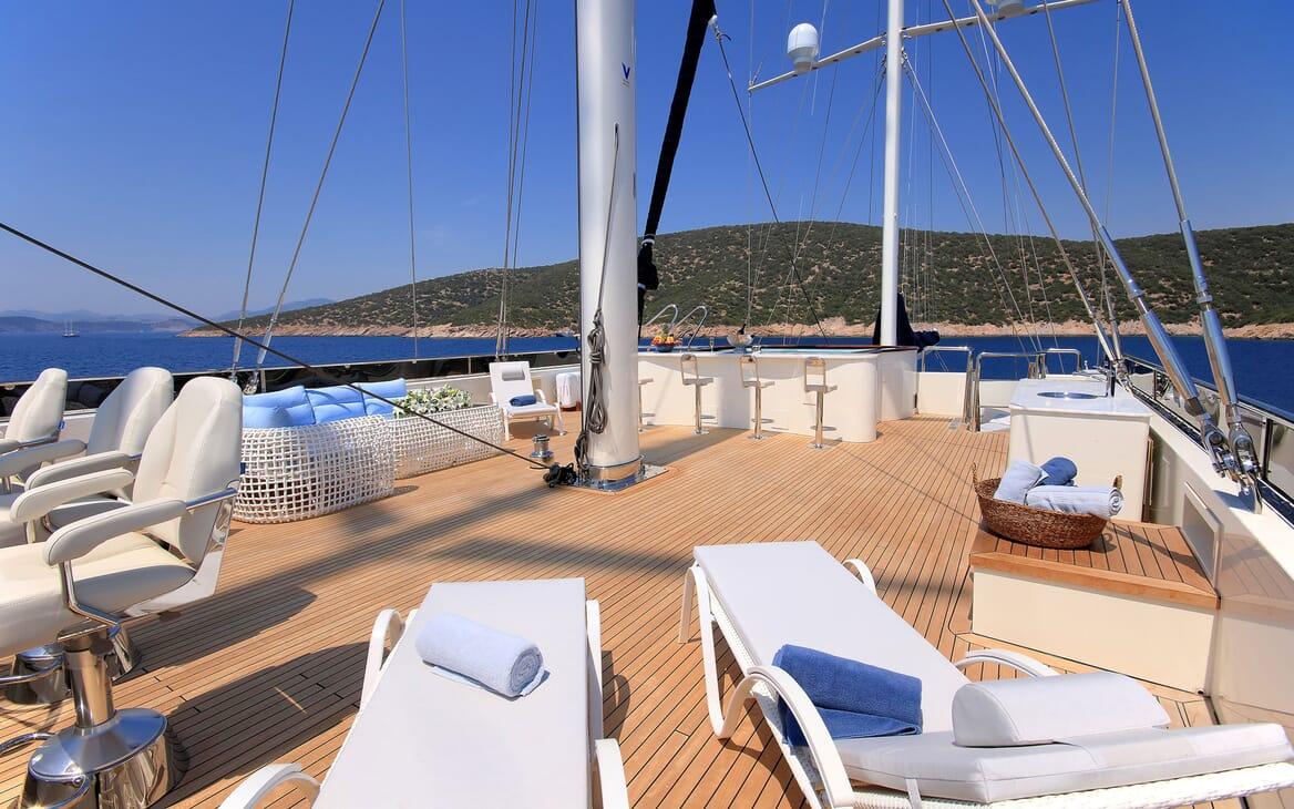 Sailing Yacht Meira top deck