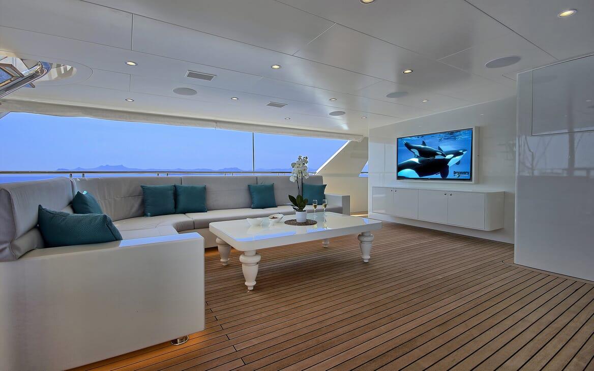 Sailing Yacht Meira outside living area