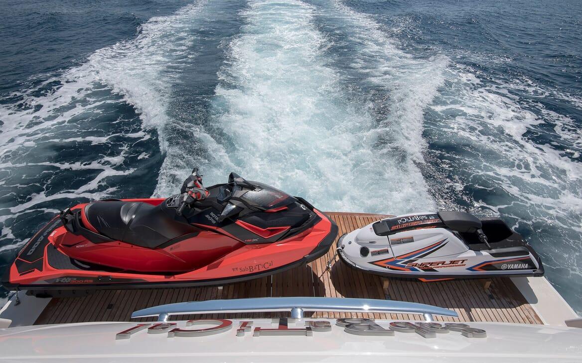 Motor Yacht SABBATICAL Aft Deck Toys
