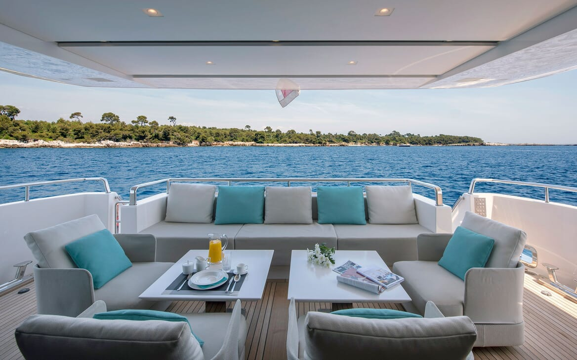 Motor Yacht SABBATICAL Main Aft Deck