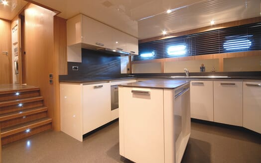 Motor Yacht Ermitage galley