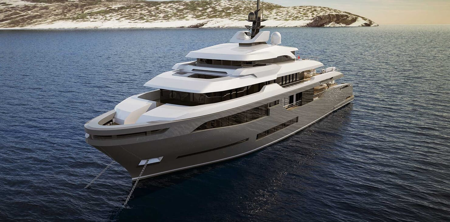 Motor Yacht RMK 58 under anchor