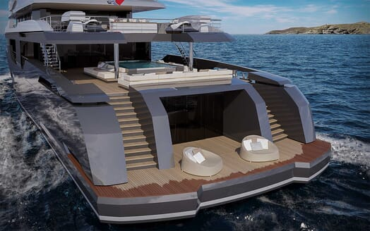 Motor Yacht RMK 58 aft