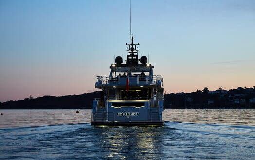 Motor Yacht Ghost II aft