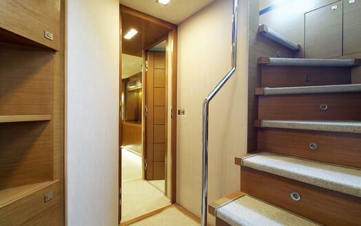 Motor Yacht Enjoy stairwell