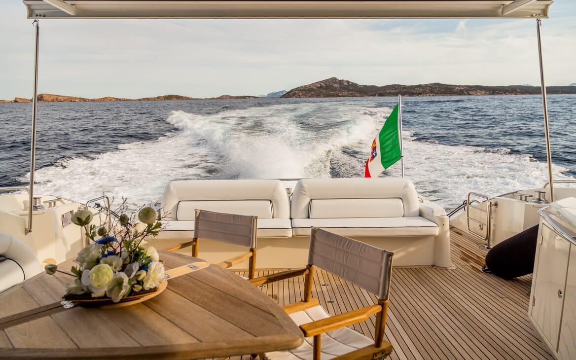 Motor Yacht Octavia aft deck