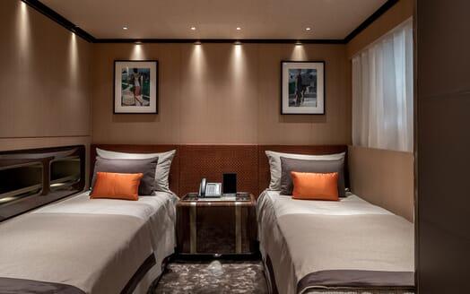 Motor Yacht VERTIGE Guest Twin Stateroom