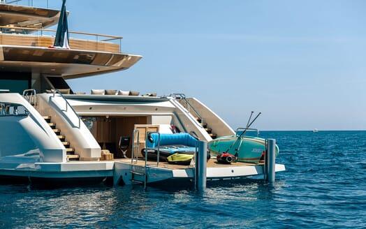 Motor Yacht VERTIGE Swim Platform with Toys
