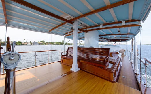 Motor Yacht Nymph deck
