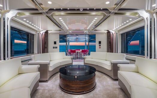 Motor Yacht EUPHORIA Main Deck Saloon