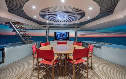 Motor Yacht EUPHORIA Main Deck Aft Al Fresco Dining