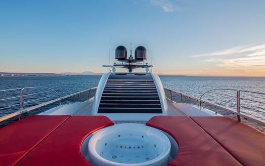 Motor Yacht EUPHORIA Sun Deck Jacuzzi