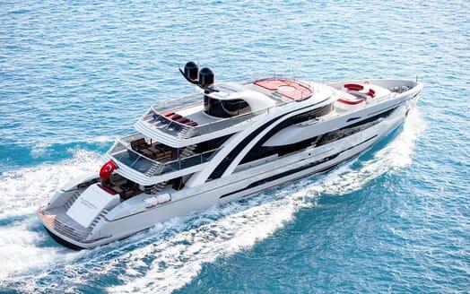 Motor Yacht EUPHORIA Exterior Aerial Running