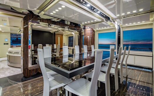 Motor Yacht EUPHORIA Main Deck Dining Room