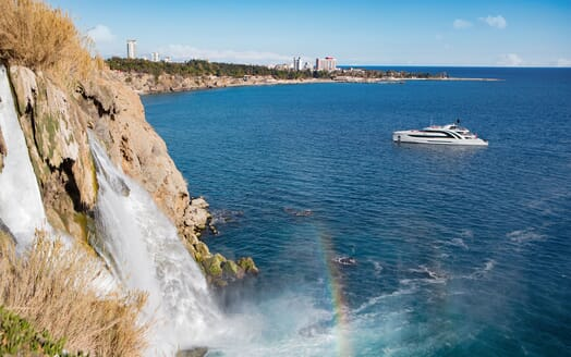 Motor Yacht EUPHORIA Exterior by Waterfall