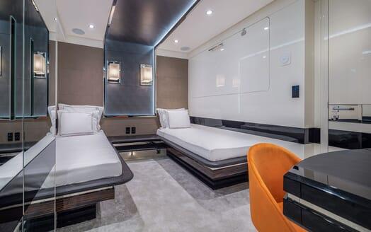 Motor Yacht EUPHORIA Twin Guest Stateroom