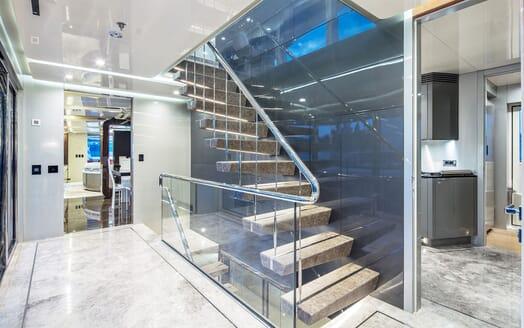 Motor Yacht EUPHORIA Hallway Staircase