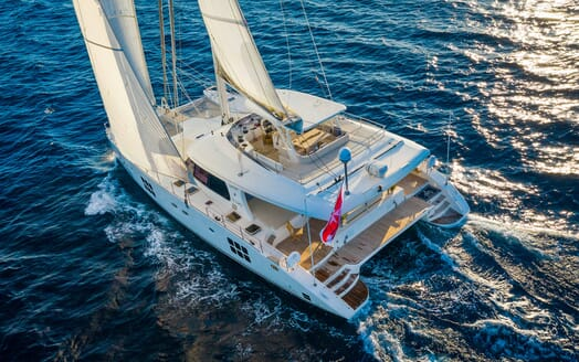 Sailing Yacht Ombre Blu 3 under sail