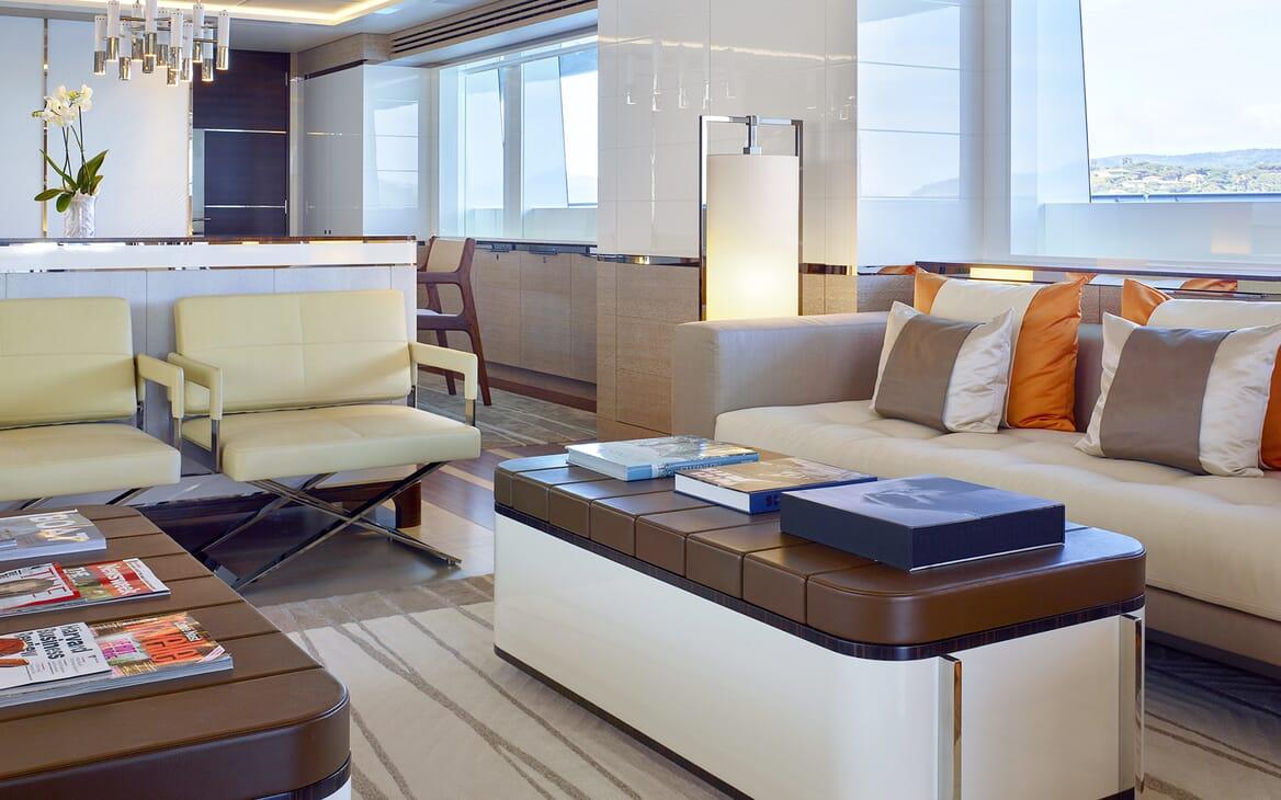 Motor Yacht Asya living space