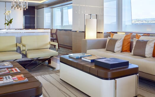 Motor Yacht Asya living space