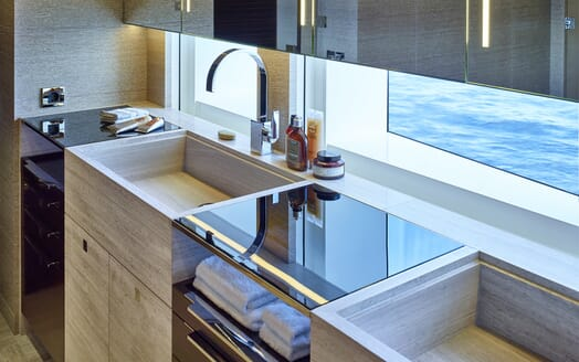 Motor Yacht Asya galley
