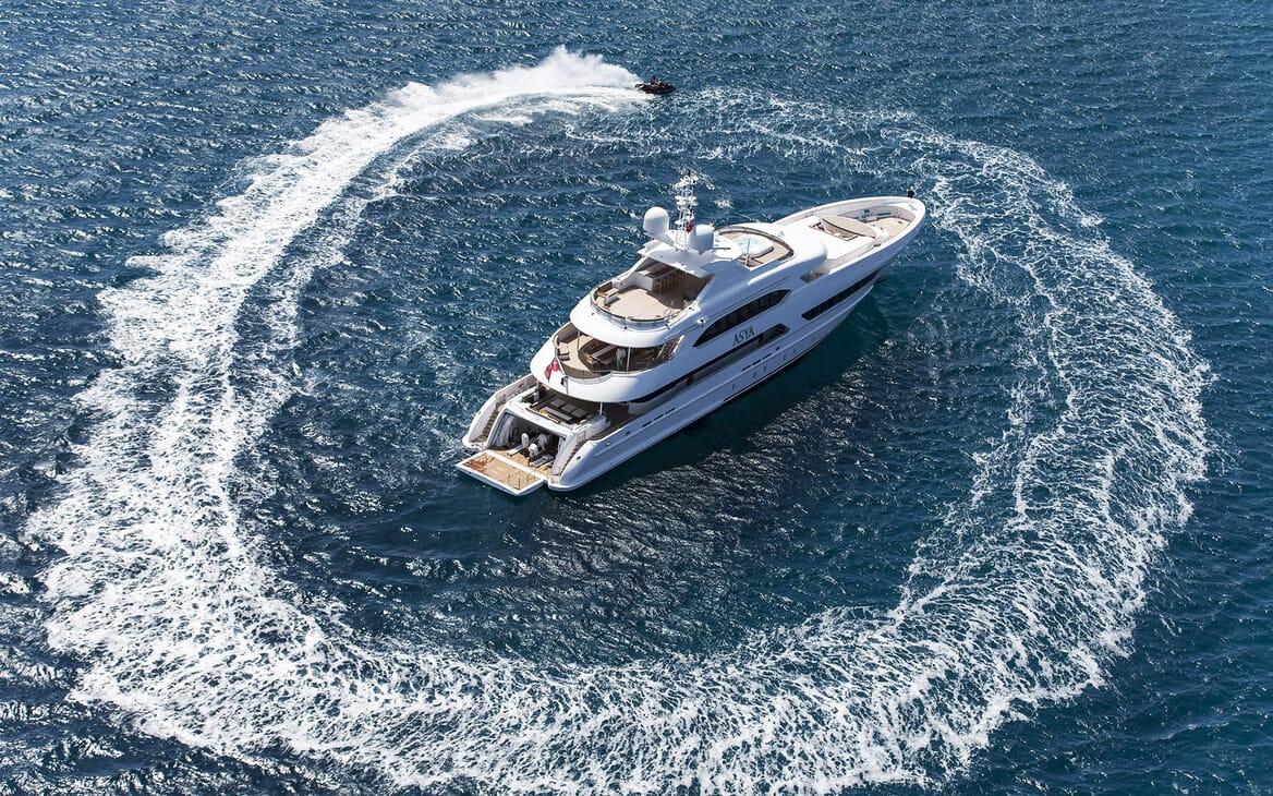Motor Yacht Asya aerial