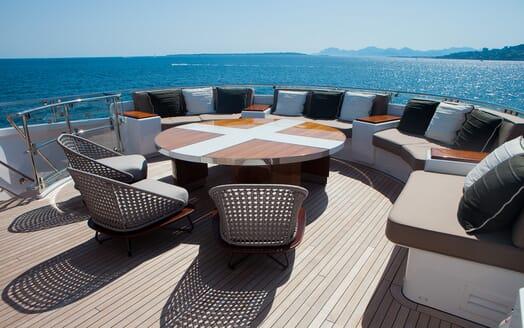 Motor Yacht Asya aft seating
