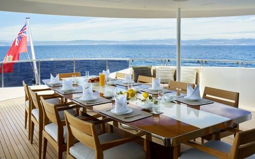 Motor Yacht Asya al fresco dining