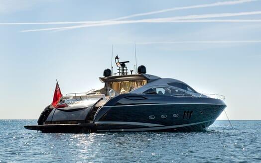 Motor Yacht Hooligan under anchor