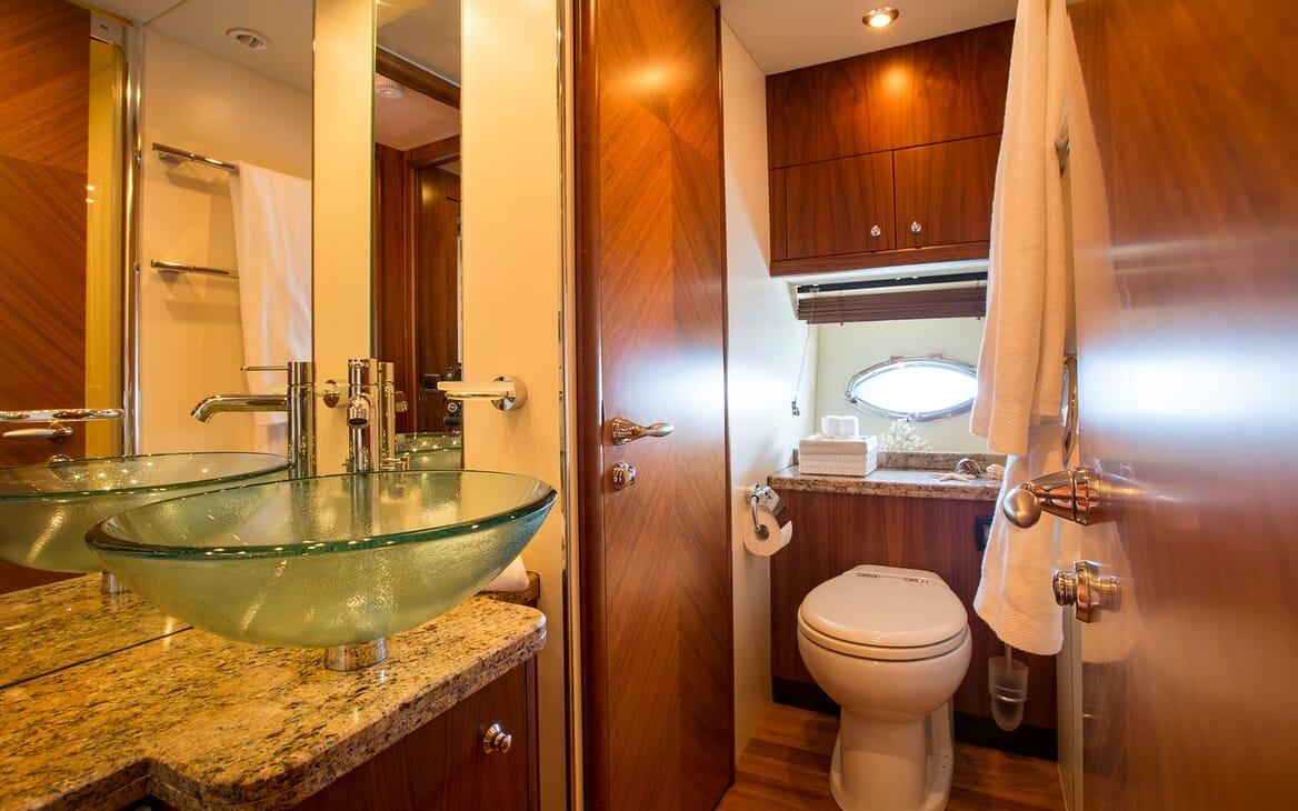 Motor Yacht Hooligan washroom