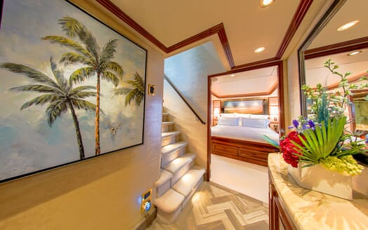 Motor Yacht LADY JJ Stairway to Stateroom