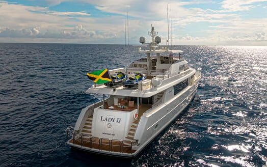 Motor Yacht LADY JJ Aft View