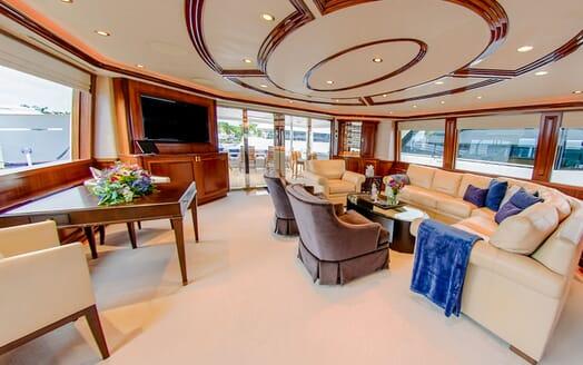 Motor Yacht LADY JJ Main Deck Saloon