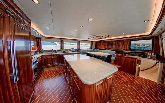 Motor Yacht LADY JJ Galley and Seating