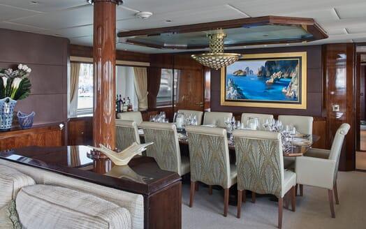 Motor Yacht Castellina  dining area