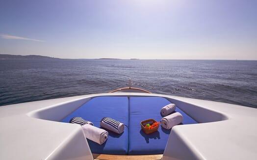 Motor Yacht Castellina foredeck