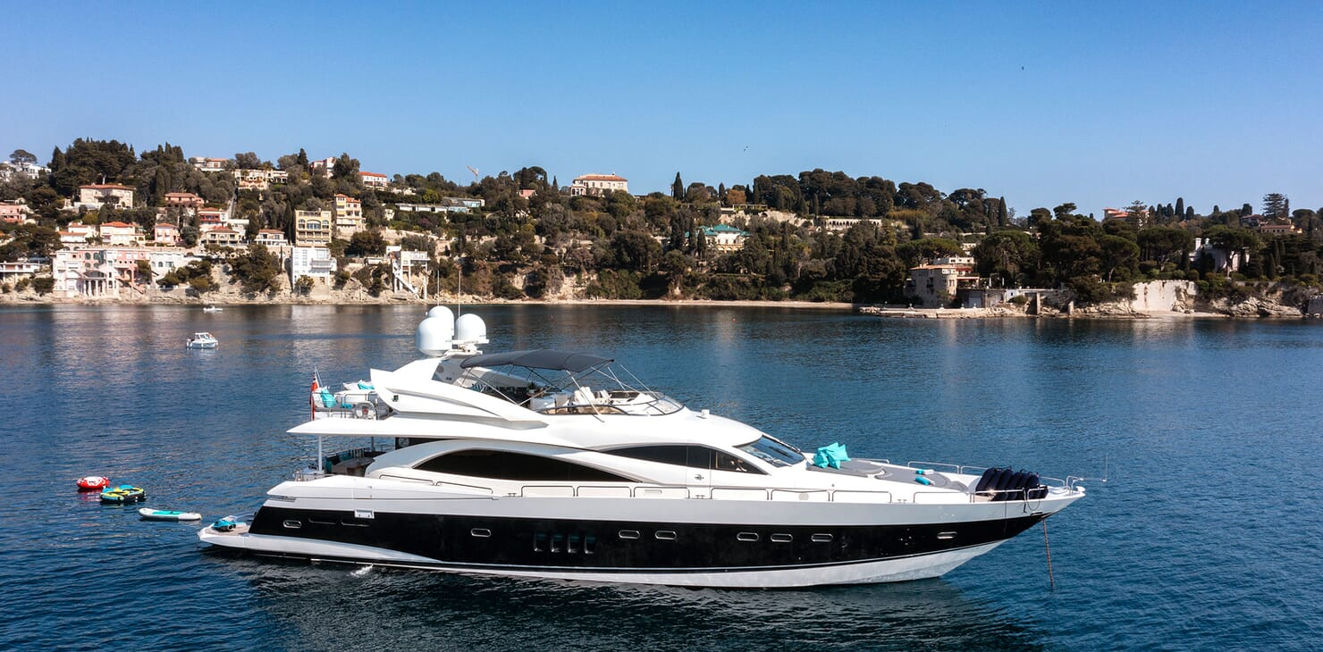Motor Yacht Excelerate anchored