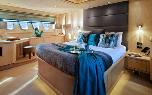 Motor Yacht Excelerate stairwell
