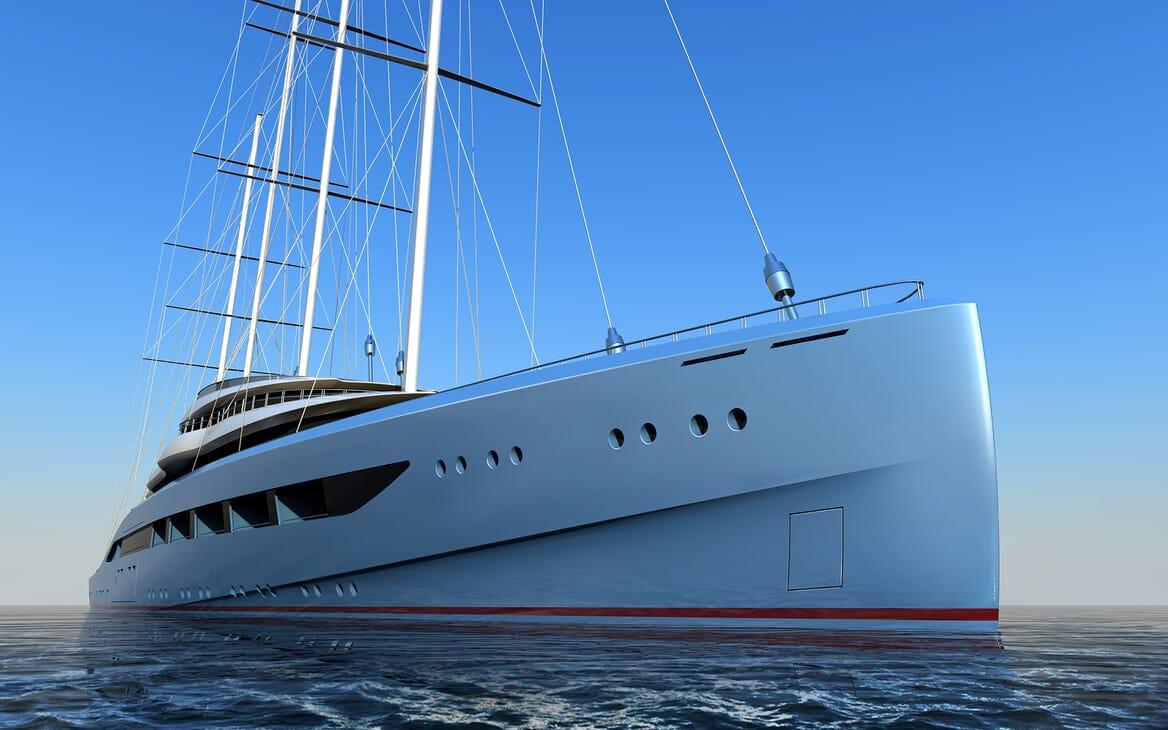 Sailing Yacht Atlas bow